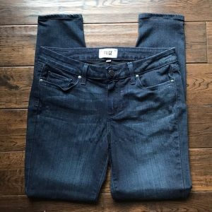 Paige jeans size 30 flattering dark blue high rise